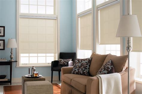 shades for living room blinds signature light filtering roller shades traditional living room other metro