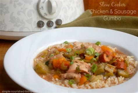 cooker chicken and sausage gumbo chicken and sausage gumbo recipe dishmaps
