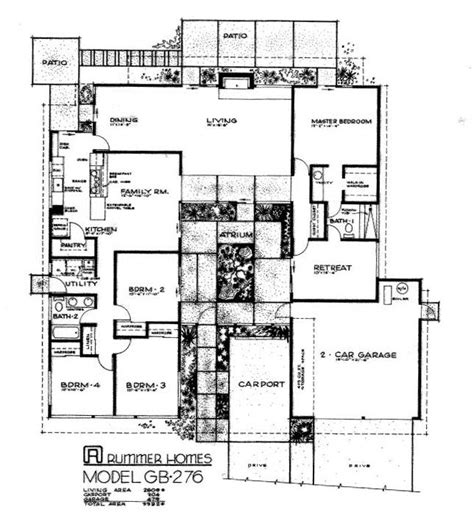 Brady Bunch House Floor Plan by 96 Best Retro House Plans Images On Pinterest Home Plans