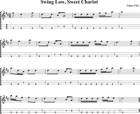 chords to swing low sweet chariot swing low sweet chariot dulcimer tab and sheet music
