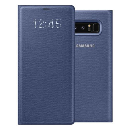 official samsung galaxy note 8 led view cover case deep blue