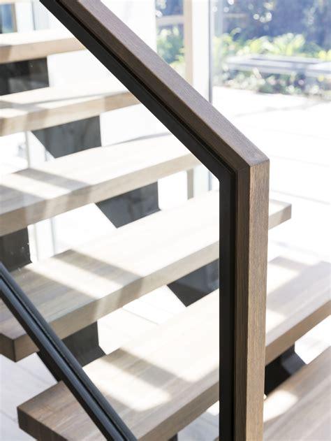 Staircase Handrail Design Stair Modern Design Architecture Steel Stringers Stainless Steel Framed Glass
