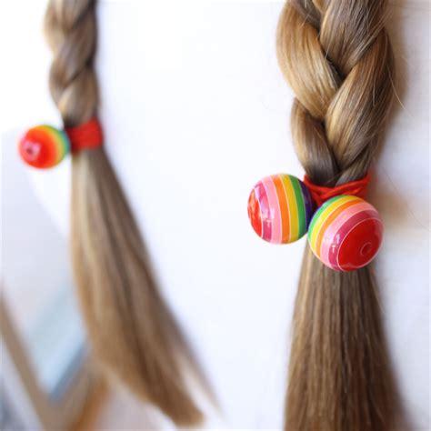 Ties Hair pony holder hair tie elastic hair tie funky