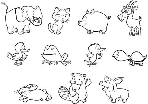 Coloring Page Baby Animals Img 24839 Small Animal Pictures To Print