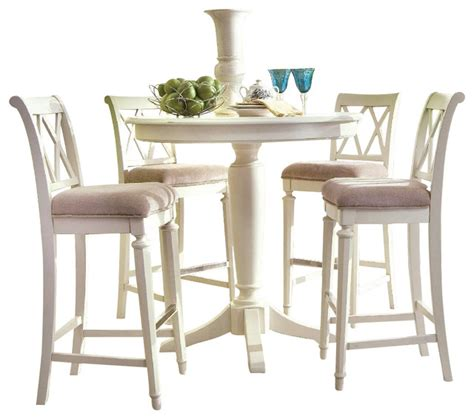 dining room pub sets drew camden 5 piece bar height dining set white traditional indoor pub and bistro sets by