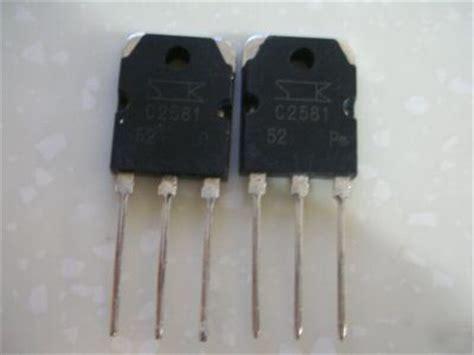 sanken transistor power lifier 50 sanken npn 2sc2581 c2581 power transistor to 3p