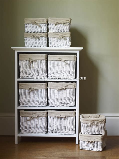 white cabinet with baskets white floral wicker basket storage cabinet unit with
