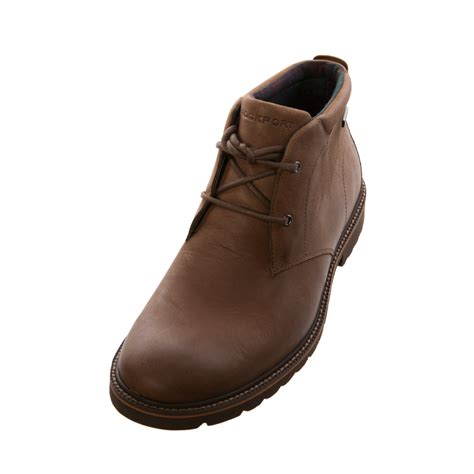 waterproof chukka boots mens rockport mens gents v75323 ledge hill waterproof chukka