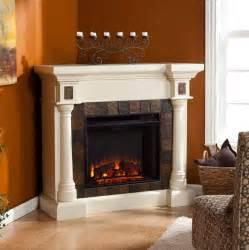 Faux Stone Electric Fireplace 44 5 Quot Carrington Faux Slate Convertible Electric Fireplace