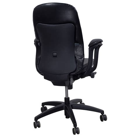 Teknion Office Chair by Teknion Amicus Synchro Used Leather Highback Task Chair