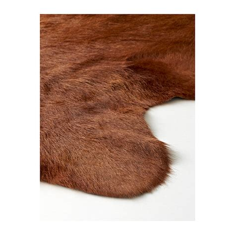 cowhide rug ikea koldby cow hide brown ikea