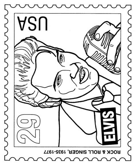 Free Elvis Coloring Pages Coloring Home