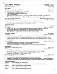 Investment Banking Resume Example Wso Investment Banking Resume Template For College Stud