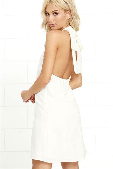 viva la swing lovely ivory dress swing dress halter dress bow