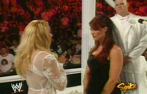 trish stratus wedding today in history the wedding of lita and kane diva dirt