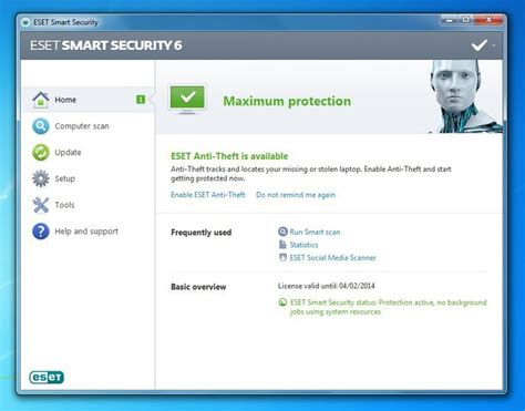 Software Antivirus Eset Nod32 Smart Security 10 3 Pc 2 Tahun Terlaris eset smart security 6 review security suite offers protection but is thin on