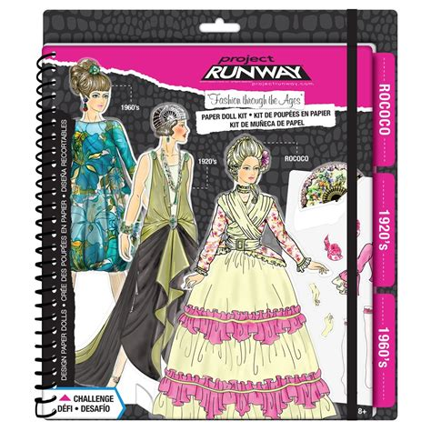 design doll clothes kit project runway 174 quot fashion through the ages quot paper doll kit