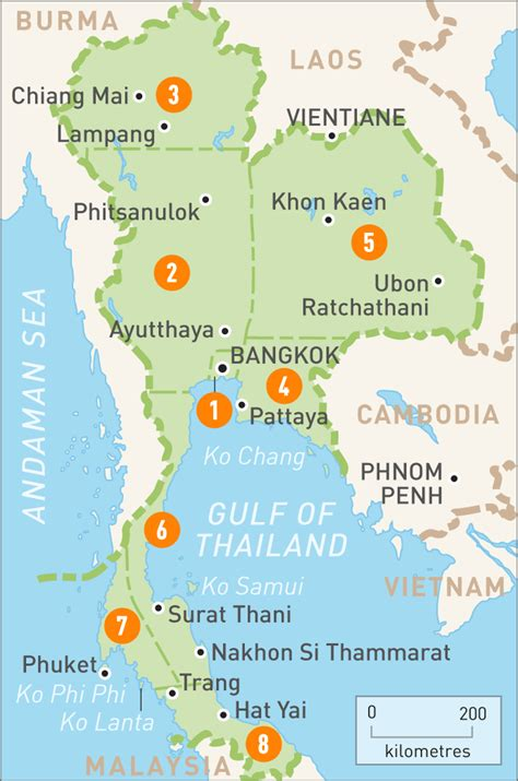Map of Thailand   Map of Thailand   Rough Guides
