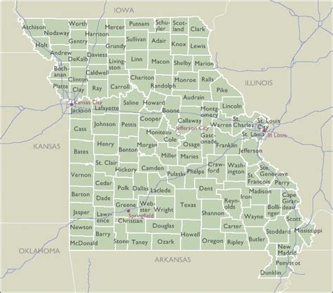 zip code map missouri county zip code maps of missouri