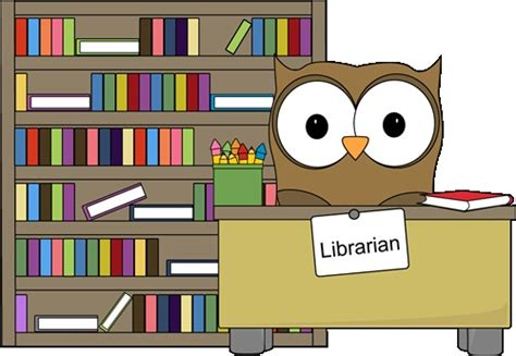 library clipart owl librarian classroom clip