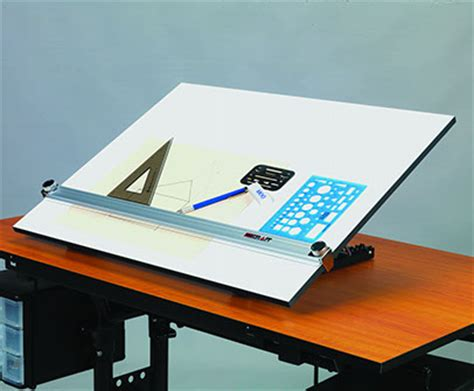 Martin 174 Deluxe Adjustable Parallel Edge Board Peb K Drafting Table With Edge