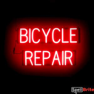 Bicycle Repair Cover Letter by Bicycle Repair Sign Spellbrite Led Vs Neon