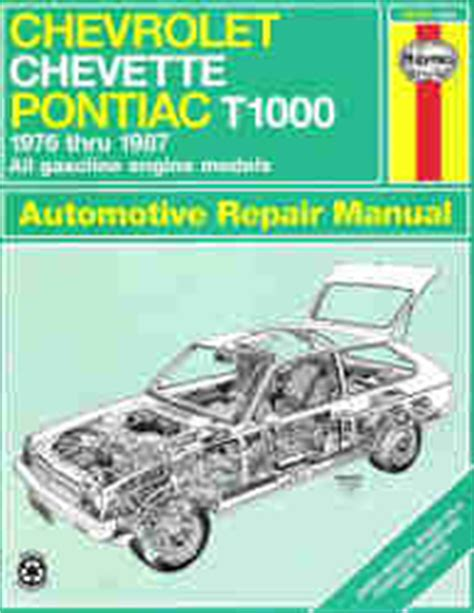 small engine repair manuals free download 1987 pontiac grand am electronic toll collection 1976 1987 chevrolet chevette and pontiac t1000 haynes repair manual