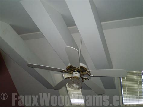 ceiling beam color faux wood workshop