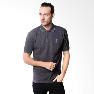 Zigzag Grey Kaos Pria Atasan Cowok jual la bette polo sport solid grey kaos polo pria harga kualitas terjamin