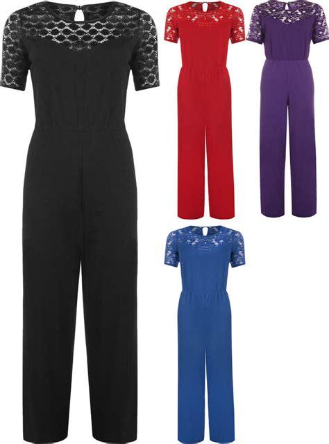 ebay jumpsuit new womens plus size short sleeve lace crochet wide