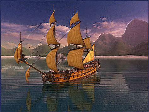 dessin animé bateau bateau pirate anim 233