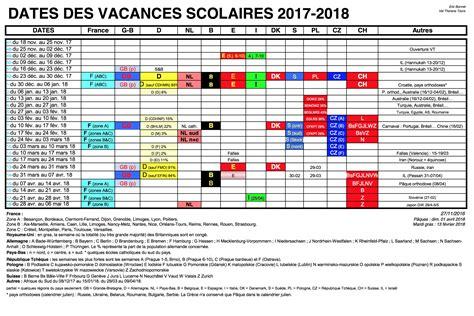 vacances scolaires 2017 2018 en europe pour la saison d
