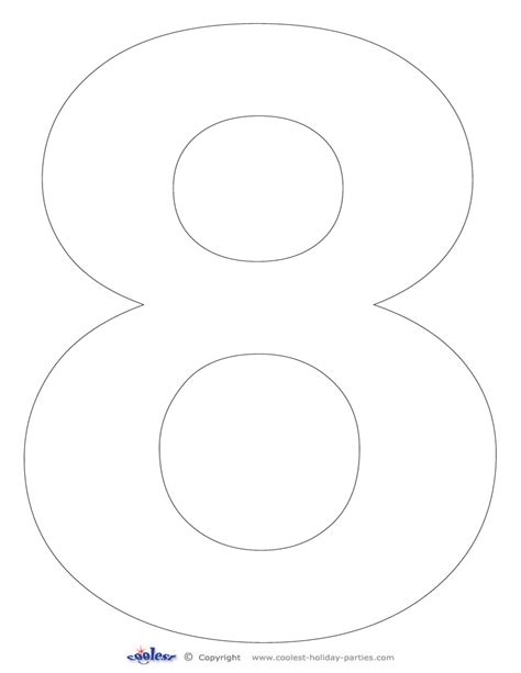 printable free number stencils 5 best images of 8 number stencil printable free