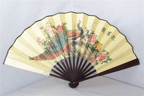 60 folding wall fan large oriental bamboo silk hand folding fan wall art