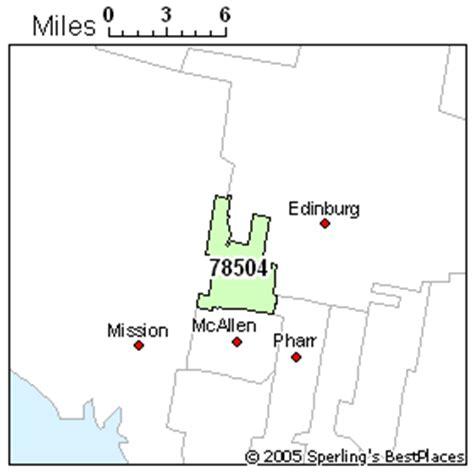 mcallen texas zip code map best place to live in mcallen zip 78504 texas