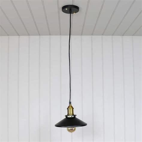 Black Retro Industrial Style Pendant Light Fitting Black Pendant Light Fitting