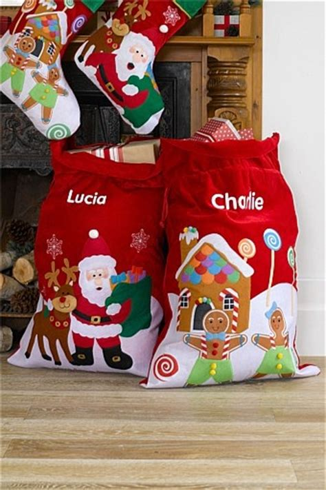 christmas personalised santa sack christmas santa