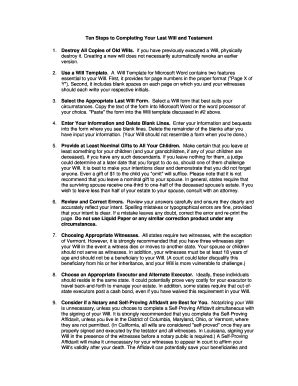Bill Of Sale Form Virginia Last Will And Testament Form Templates Fillable Printable Sles Virginia Last Will And Testament Template