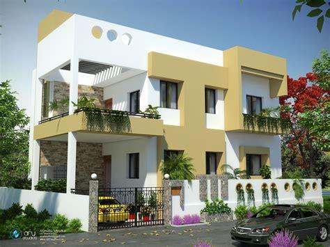 3d building elevation render in vray arystudios