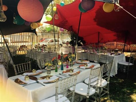 Colour full wedding table set up for a traditional Tsonga