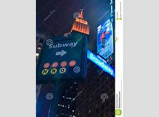 Subway And Broadway Sign And Empire State Building ... United Kiosk