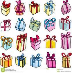 christmas or birthday gift clip art set royalty free stock