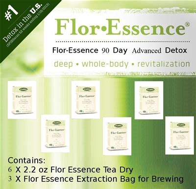 90 Day Detox by Flor Essence Tea 90 Day Advanced Detox