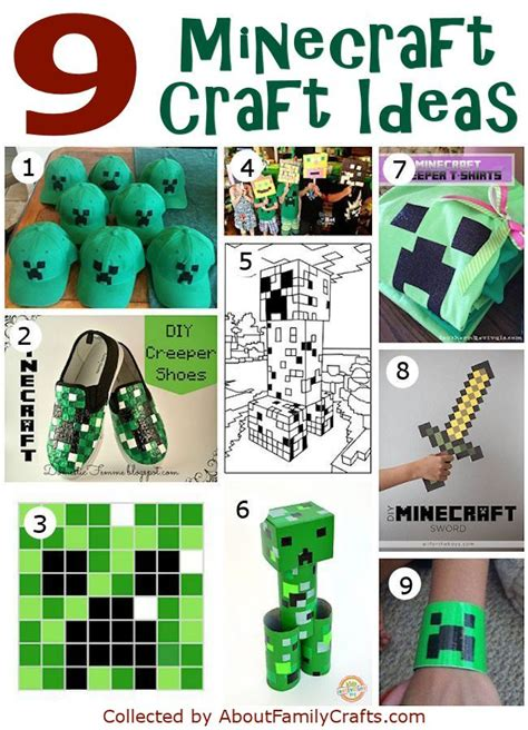 50 Diy Minecraft Birthday Ideas About Family Crafts
