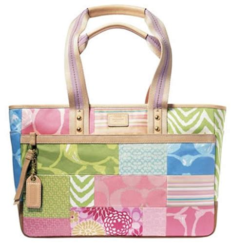 Coach Patchwork Purse Collection - coach htons weekend collection purseblog