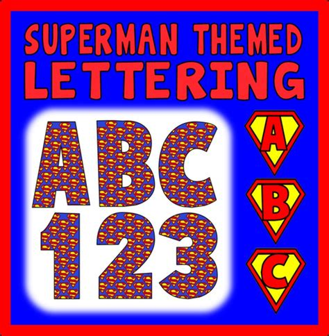 superman alphabet template classroom posters display behaviour early years