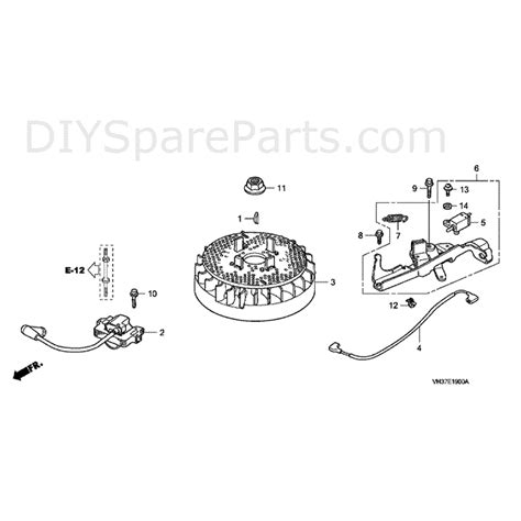 honda izy hrg  sd lawnmower hrgc pde mabf parts diagram flywheel ignition