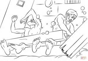 Paul And Silas Survives Earthquake Coloring Page Free Paul And Silas Coloring Page