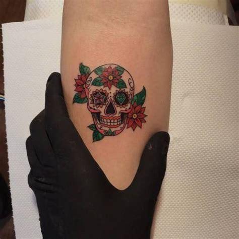 small sugar skull tattoo mexican sugar skull