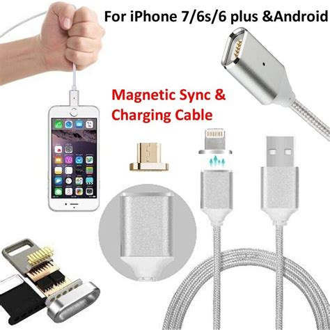 magnetic type c usb c micro usb charge data cable fr iphone samsung lg ebay